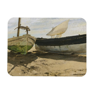 Joaquin Sorolla - Fishing boats on the beach Rectangular Photo Magnet