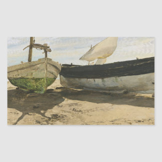 Joaquin Sorolla - Fishing boats on the beach Sticker