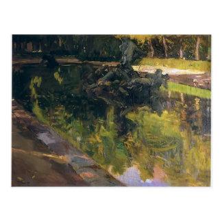 Joaquín Sorolla- Fountain of Neptune, La Granja Postcard
