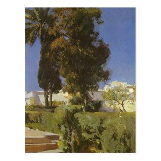 Joaquín Sorolla- Gardens of Alcazar (Sevilla) Postcard