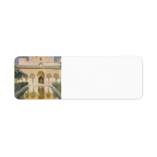 Joaquín Sorolla-Hall of the Ambassadors, Alhambra Return Address Label