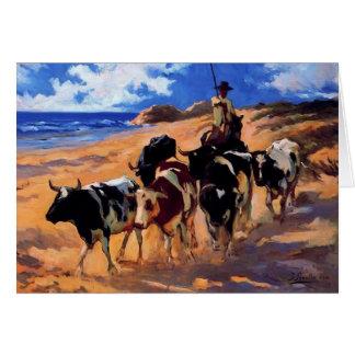 Joaquín Sorolla- Oxen at the Beach Card