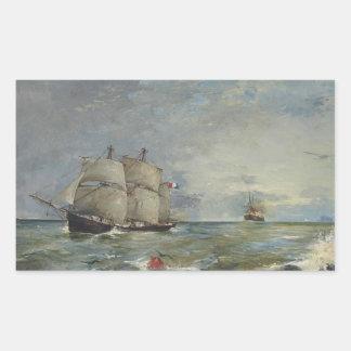 Joaquin Sorolla - Sailboats in the Sea Sticker