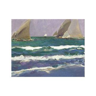Joaquin Sorolla - Ship Sails in the Sea Canvas Print