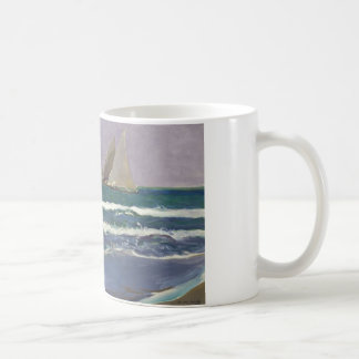Joaquin Sorolla - Ship Sails in the Sea Coffee Mug