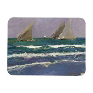 Joaquin Sorolla - Ship Sails in the Sea Magnet