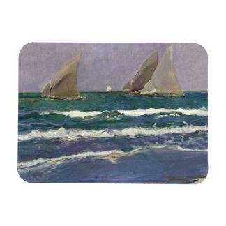 Joaquin Sorolla - Ship Sails in the Sea Rectangular Photo Magnet