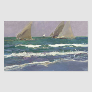 Joaquin Sorolla - Ship Sails in the Sea Sticker