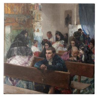 Joaquin Sorolla - The Baptism Tile