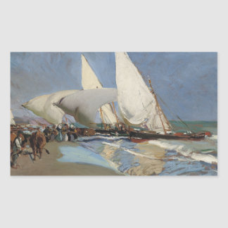 Joaquin Sorolla - The Beach at Valencia Sticker