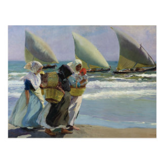 Joaquin Sorolla - The Three Sails Postcard