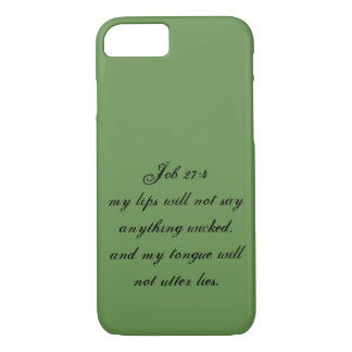 Job 27:4 Phone Case