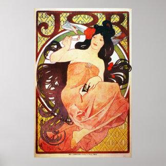 Job Art Nouveau Matte Poster