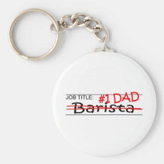 Job Dad Barista Keychain