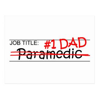 Job Dad Paramedic Postcard