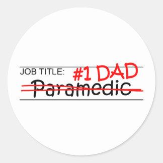 Job Dad Paramedic Round Sticker