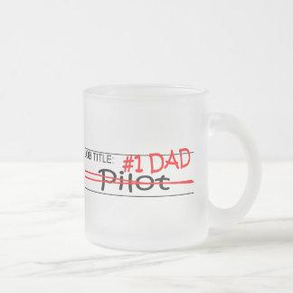 Job Dad Pilot Frosted Glass Coffee Mug