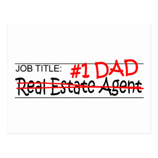 Job Dad Real Estate Agent Postcard