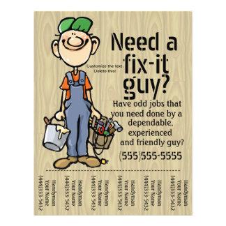 Job Hunting flyer Carpenter Plumber Painter