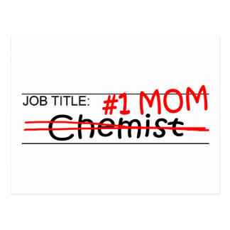 Job Mom Chemist Postcard