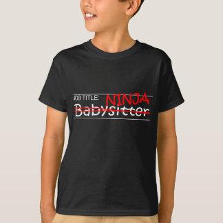 Job Title Ninja Babysitter T-Shirt