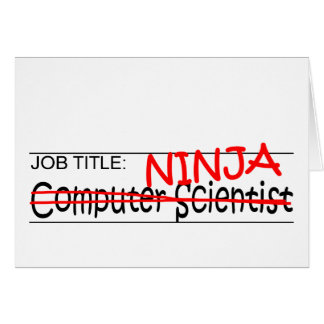 Job Title Ninja - Comp Sci Card