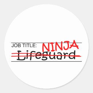 Job Title Ninja - Lifeguard Round Sticker
