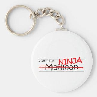 Job Title Ninja - Mailman Keychain