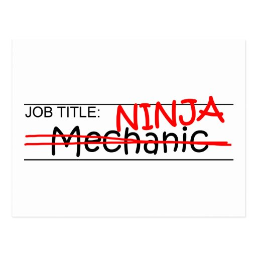 Job Title Ninja - Mechanic Post Cards