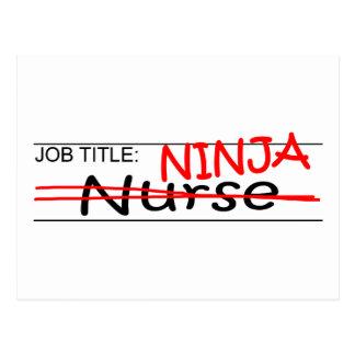 Job Title Ninja - Nurse Postcard