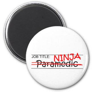 Job Title Ninja - Paramedic Magnets