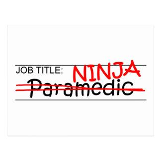 Job Title Ninja - Paramedic Post Cards