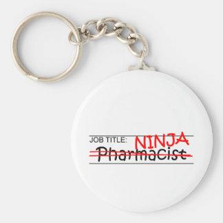 Job Title Ninja - Pharmacist Keychain