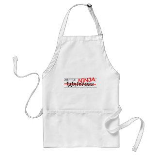 Job Title Ninja - Waitress Standard Apron