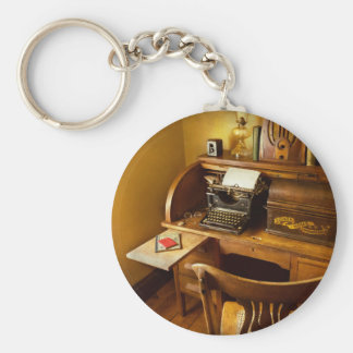 Job - Typist - A person with many interests Keychain
