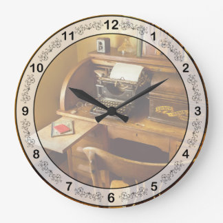 Job - Typist - A person with many interests Large Clock
