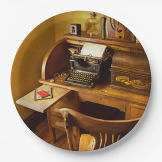 Job - Typist - A person with many interests Paper Plate