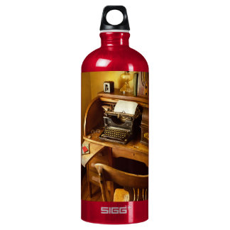 Job - Typist - A person with many interests Water Bottle