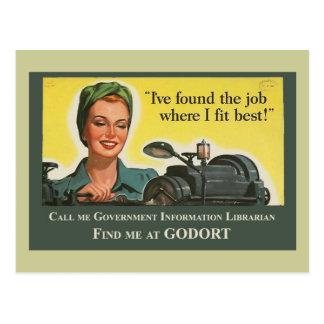 Job Where I Fit Best Postcard