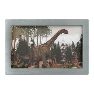 Jobaria dinosaur - 3D render Belt Buckles