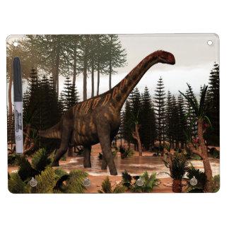 Jobaria dinosaur - 3D render Dry Erase Board With Keychain Holder
