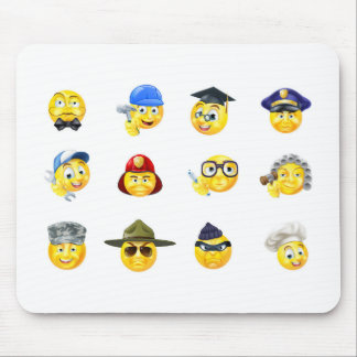 Jobs Occupations Work Emoji Emoticon Set Mouse Pad