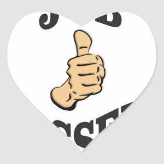 jobs up thumb funs heart sticker