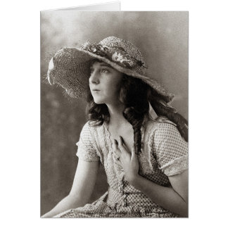 Jobyna Ralston-Harold Loyd's Leading Lady Card
