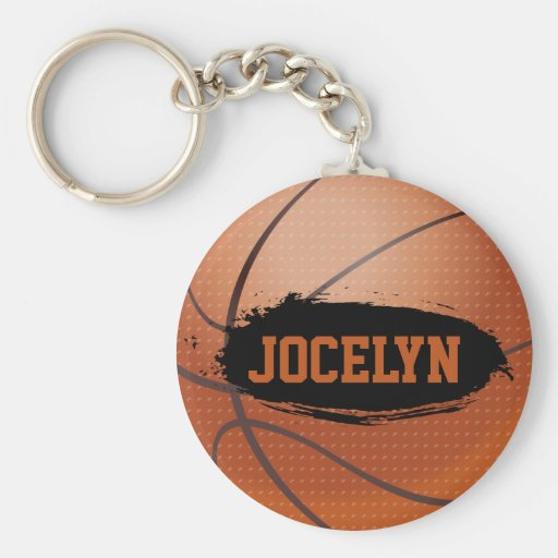 Jocelyn Grunge Basketball Key Chain / Key Ring
