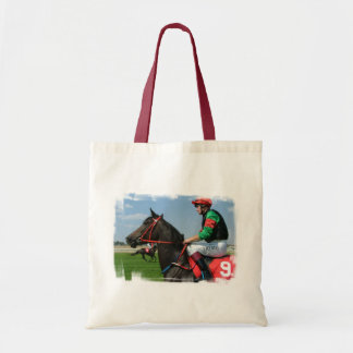 Jockey and Horse Small Canvas Bag