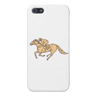 Jockey Horse Racing Side Mono Line iPhone 5/5S Case