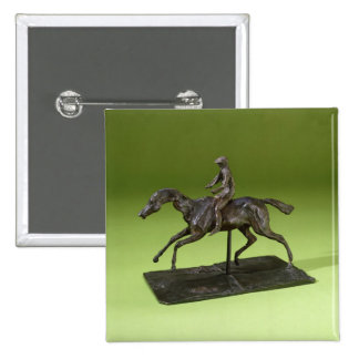 Jockey on a Horse (bronze) 2 Inch Square Button