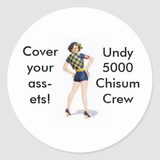 Jockey Pinup Round Sticker