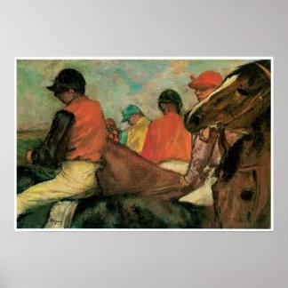 Jockeys, Edgar Degas Poster